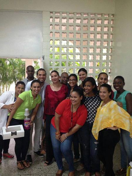 Grupo de estudiantes de medicina.